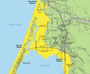 Arcata Tsunami Hazard Map