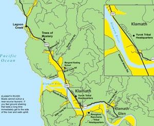 Klamath River Tsunami Map