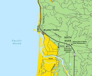 Smith River Tsunami Map
