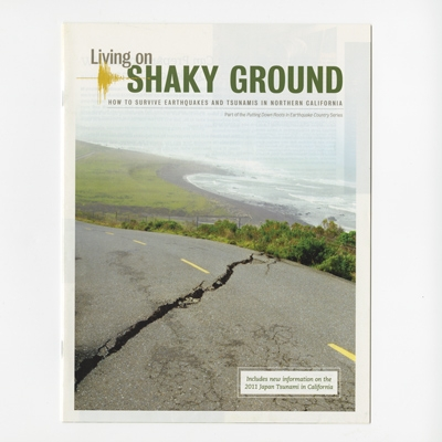Living on shaky ground - magazine cover