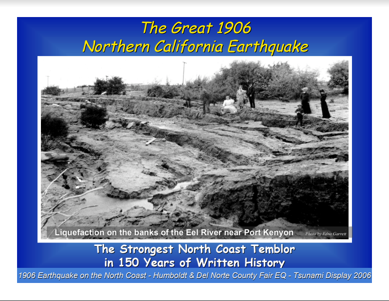 Fair Topics from 2006 - The Great 1906 Earthquake