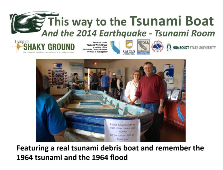 Fair Topics from 2014 Tsunami Debris - Dry Lagoon Boat that Washed Ashore