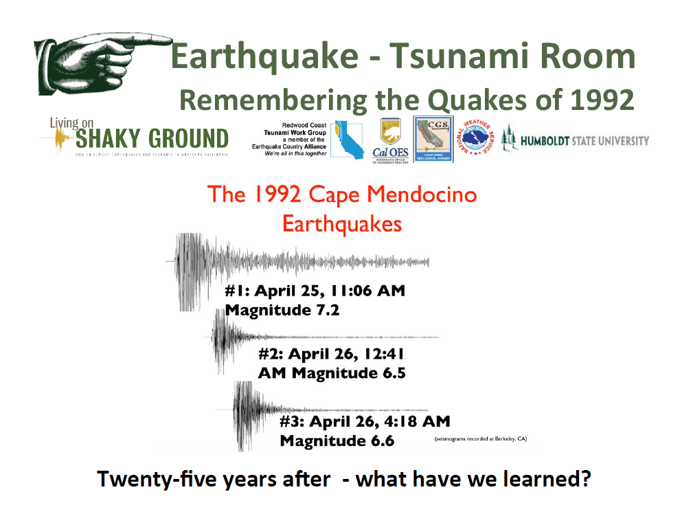 Fair Topics from 2017 - 25 Years Later - Cape Mendocino Earthquakes