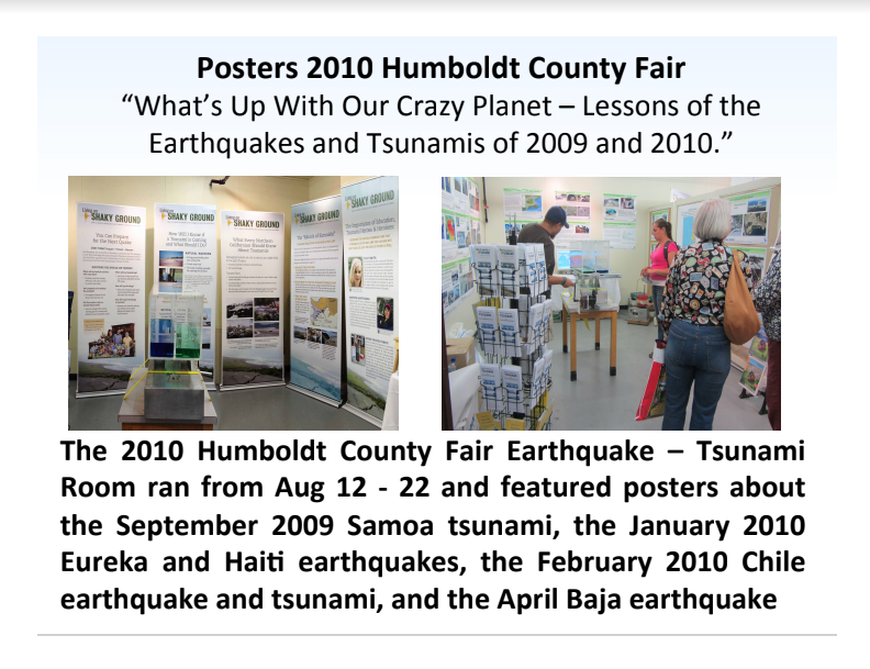 Fair Topics from 2010 Lessons Learned from the Earthquakes of 2009 & 2010