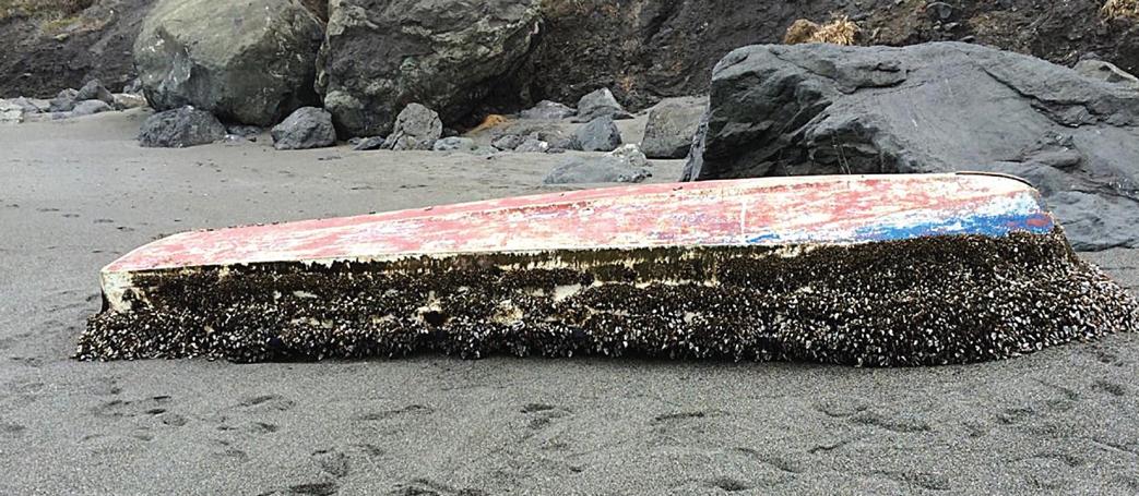 Tai Shu Maru as it was found at Dry Lagoon
