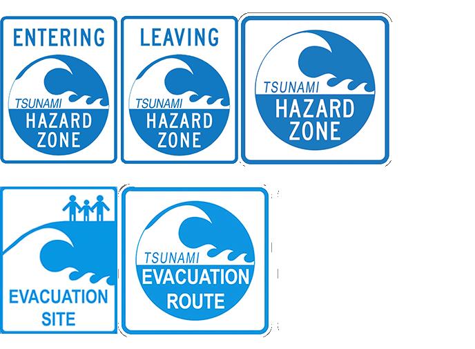various tsunami signs