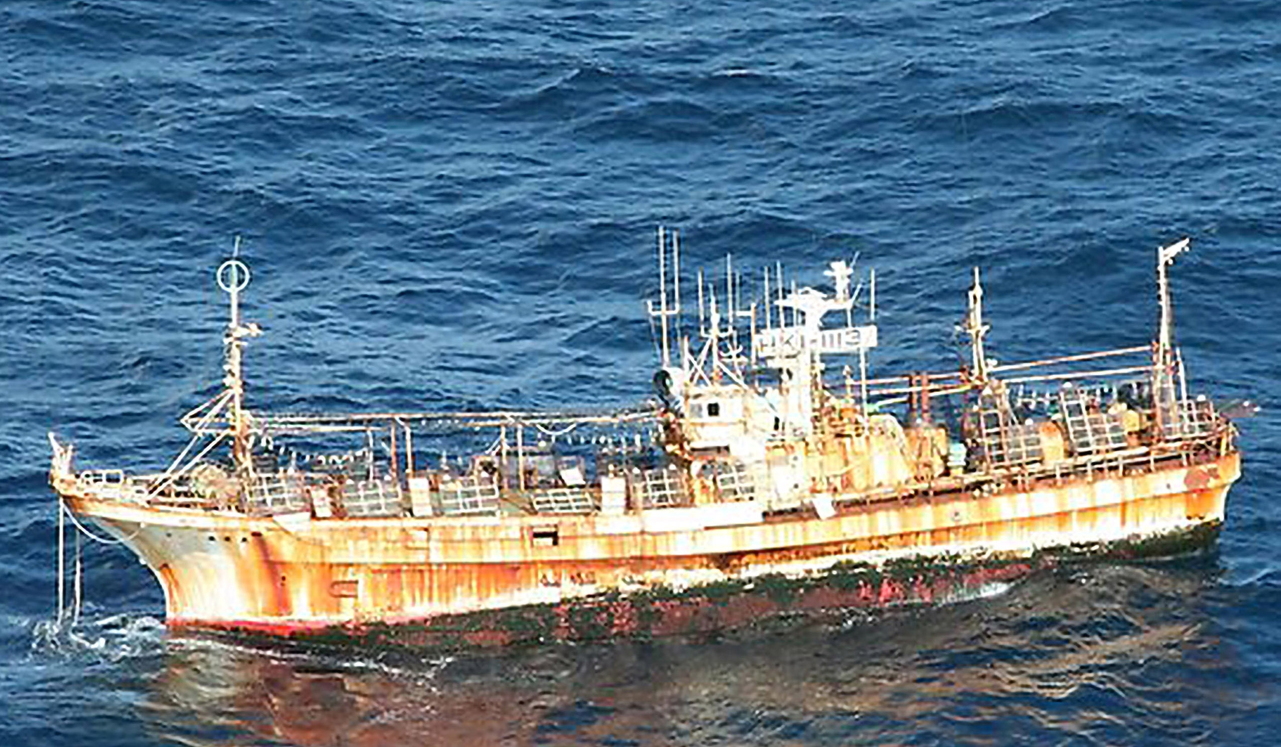 Japanese squid boat